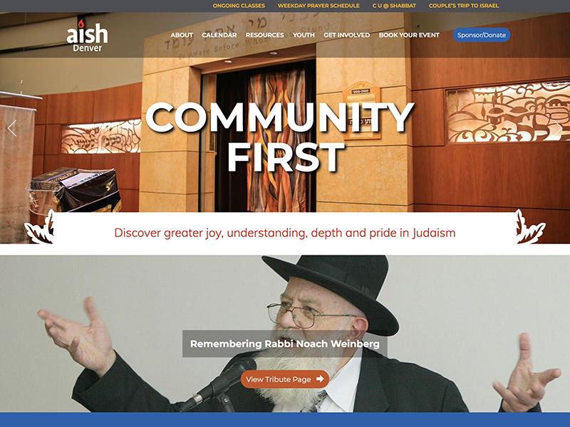 Web Design Synagogue in Denver